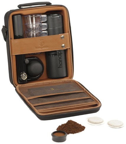 The Handpresso Outdoor Complete French Press is great for traveling coffee lovers