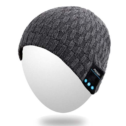 Keep warm and jog in style with the Qshell Bluetooth Beanie
