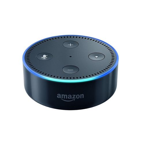 The Amazon Echo Dot is voice-activated and equipped with many advanced features