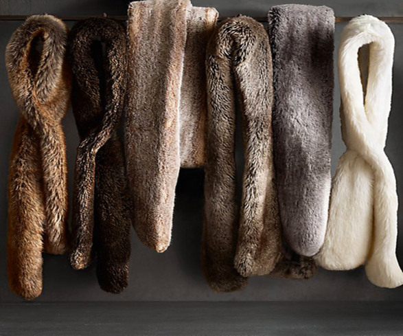 You'll look absolutely chic donning Restoration Hardware's Ultra Faux Fur Scarf