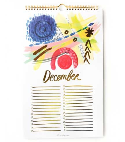 The Perpetual Calendar by Thimblepress, one of GAYOT's Best Gifts for Women for $50 or Less