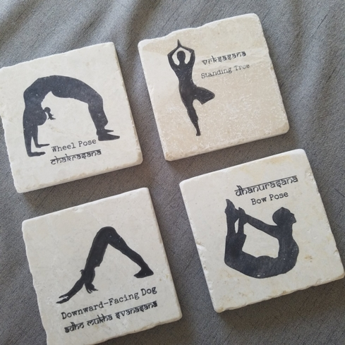 Show the yogi in your life your appreciation with this neat yoga coasters set, one of GAYOT's Best Gifts for Her Under $50