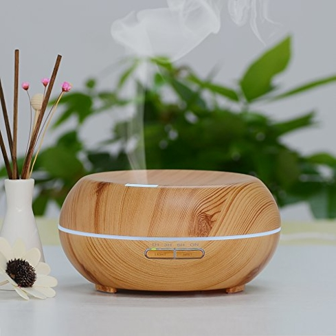 The best-selling InnoGear Aromatherapy Essential Oil Diffuser comes in a stylish natural wood finish
