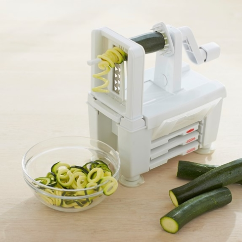 Make mom's cooking routine a little more fun with the Paderno USA 4-Blade Spiralizer