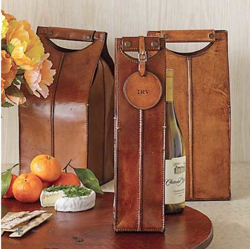 Gump's San Francisco makes wine carriers for one, two or four bottles