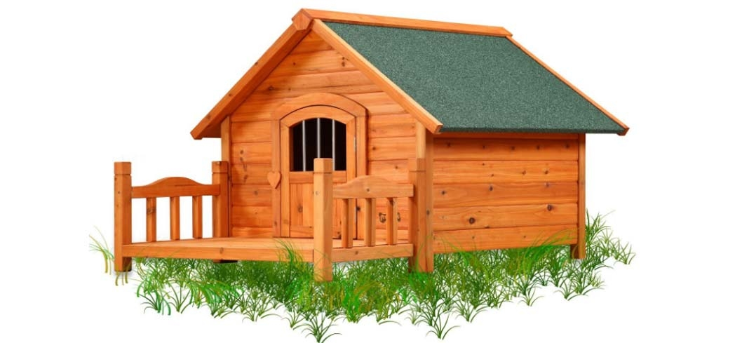 Make your pooch feel right at home with Pet Squeak's Porch Pup Dog House