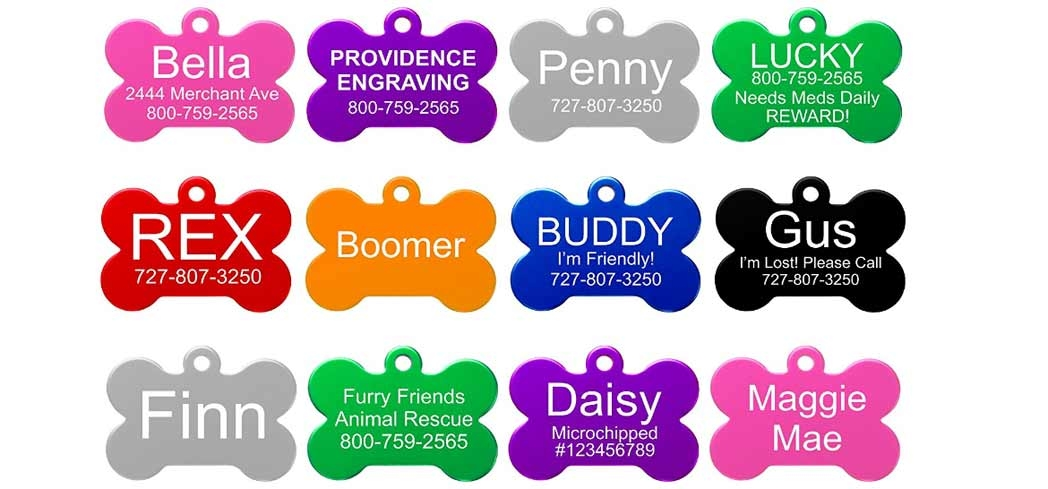 Customize your pet's ID tag with Providence Engraving