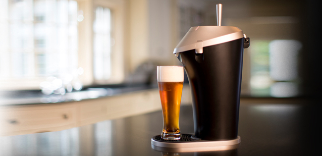 Pour draft-style brews at home with the Fizzics Beer System, one of GAYOT's Top 10 Holiday Gifts