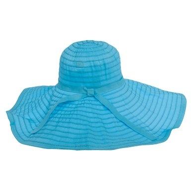 A floppy sun hat by Jeanne Simmons with SPF protection