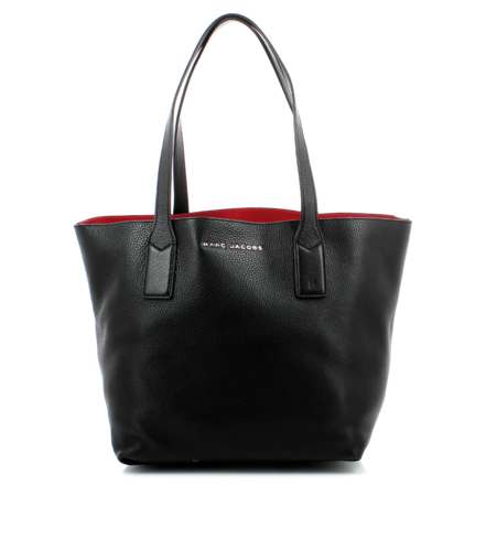 The Marc Jacobs Wingman Shopping Tote shown in black leather