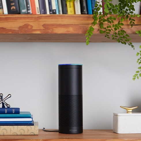 The Amazon Echo links with Alexa to answer questions, read the news and provide info on local businesses