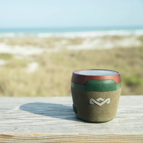 The first family of reggae uses earth-friendly materials to make the House of Marley Chant Mini