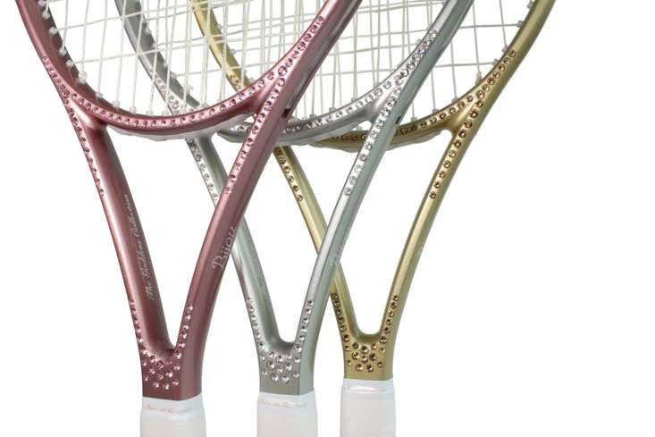Your valentine will take center court with the world's most sparkly tennis racquet