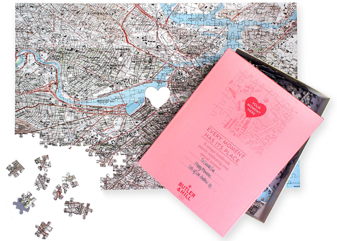 Surprise your love with a Personalized We First Met Map Puzzle this Valentine's Day