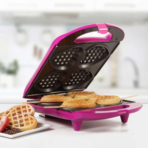Make breakfast in bed for you sweetie with the Heart-Shaped Waffle Maker