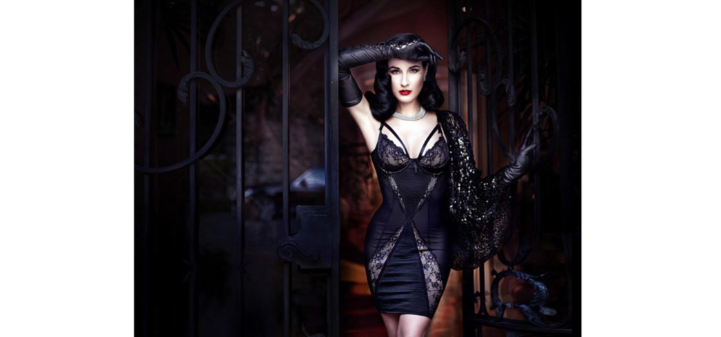 A glamorous look from Dita Von Teese's Star Lift collection