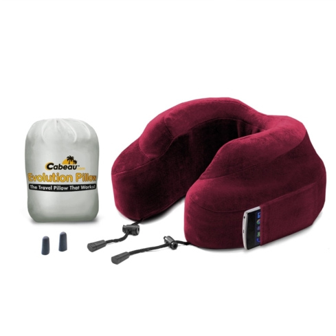 The Cabeau Evolution Pillow is made of comfortable memory foam and stores an iPod