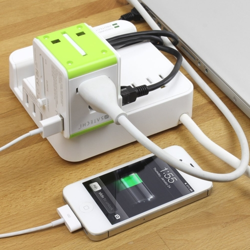 The Satechi Smart Travel Router & Adapter makes charging your devices in a new country a breeze