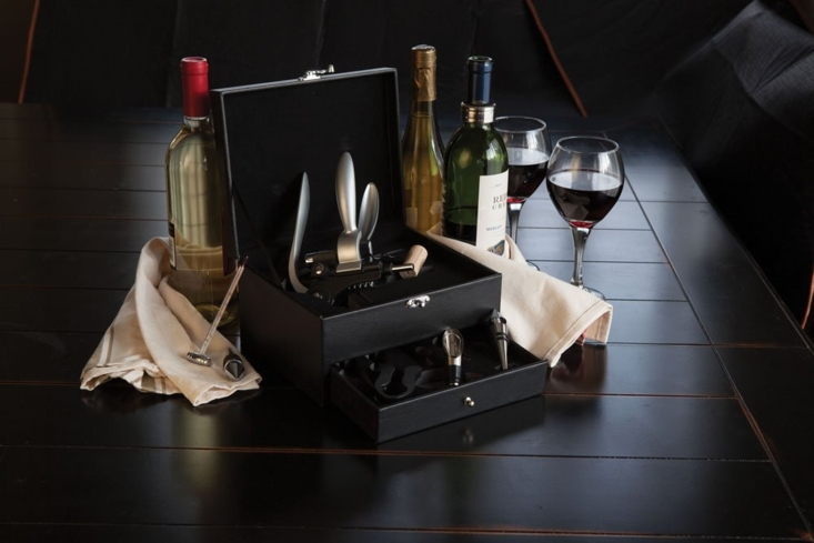 This eight-piece wine accessory kit is ideal for newlyweds and new homeowners