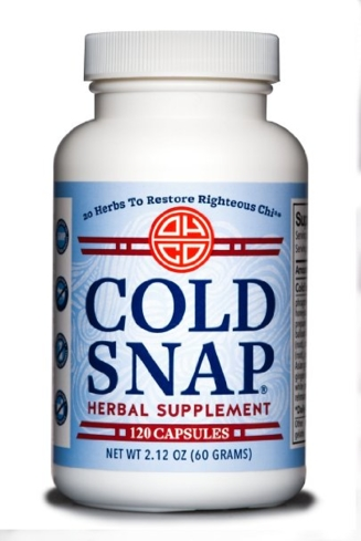 Cold Snap, an herbal supplement designed to restore your righteous chi