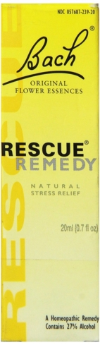 Bach's Rescue Remedy is a blend of five flower essences used to beat stress and anxiety