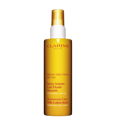 Clarins Sunscreen Care Milk-Lotion Spray SPF 50+ is easy and convenient