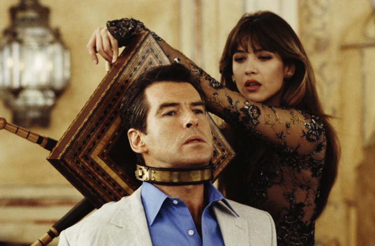 Pierce Brosnan and Sophie Marceau in The World Is Not Enough