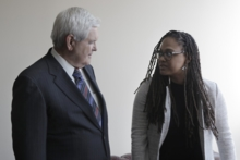 Well-known conservative Newt Gingrich speaks with Ava DuVerney in 13TH - © 2016 Netflix