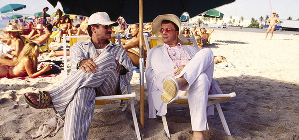 "Robin Williams and Nathan Lane strike comedic gold in ""The Birdcage"""