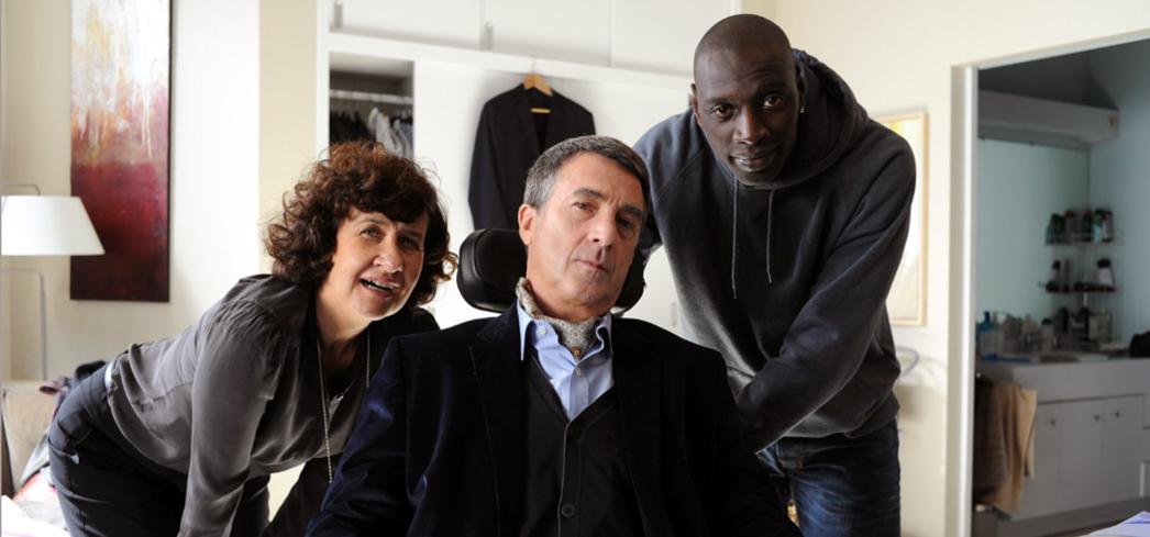 Anne Le Ny, François Cluzet and Omar Sy in The Intouchables