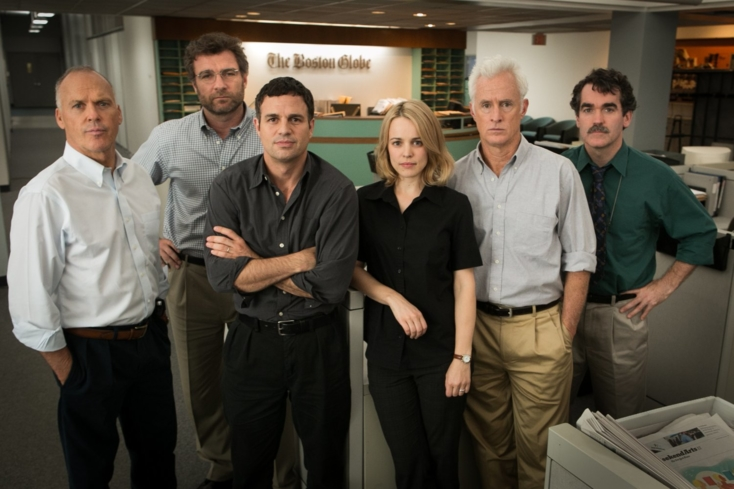 The cast of Spotlight, one of GAYOT's picks for The Best Films of 2015