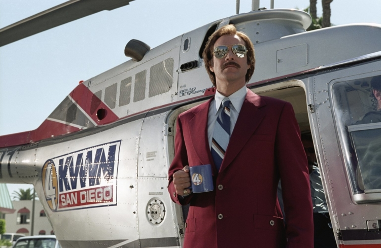 Will Ferrell in Anchorman: The Legend of Ron Burgundy