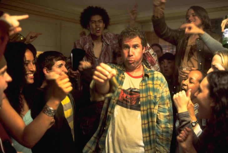 Will Ferrell, Matthew Carey, and Rick Gonzalez in Old School