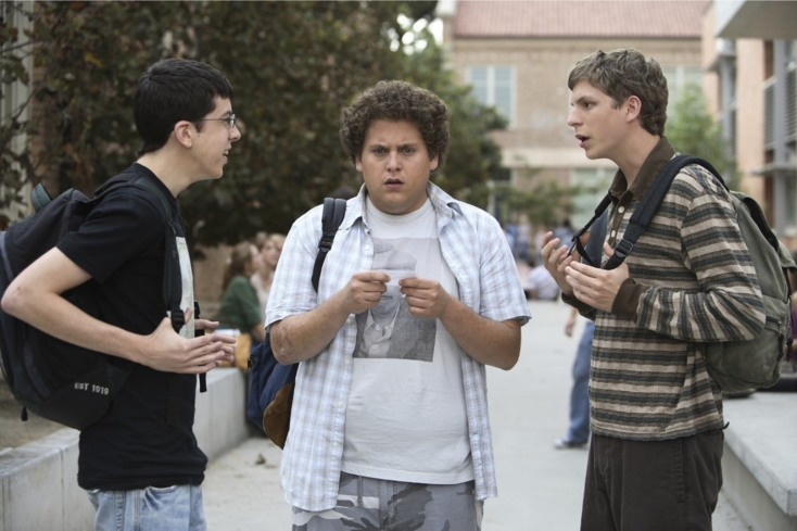 Michael Cera, Jonah Hill, and Christopher Mintz-Plasse in Superbad