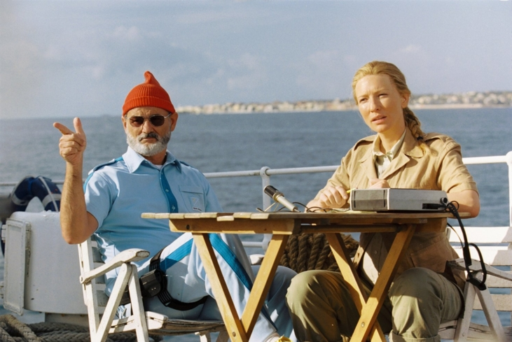Bill Murray and Cate Blanchett in The Life Aquatic with Steve Zissou