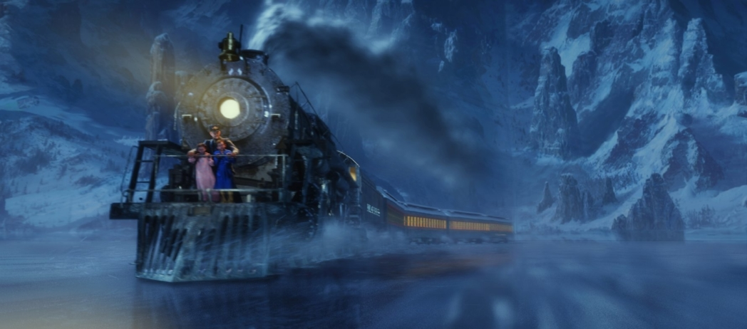 A scene from The Polar Express