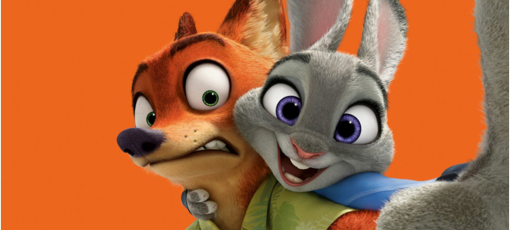 Jason Bateman and Ginnifer Goodwin in Zootopia, one of GAYOT's Top 10 Kids Movies