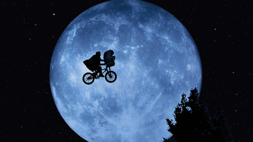 An iconic scene from E.T. the Extra-Terrestrial