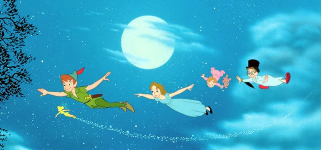 Paul Collins and Tommy Luske in Peter Pan