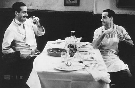 Tony Shalhoub and Stanley Tucci in Big Night