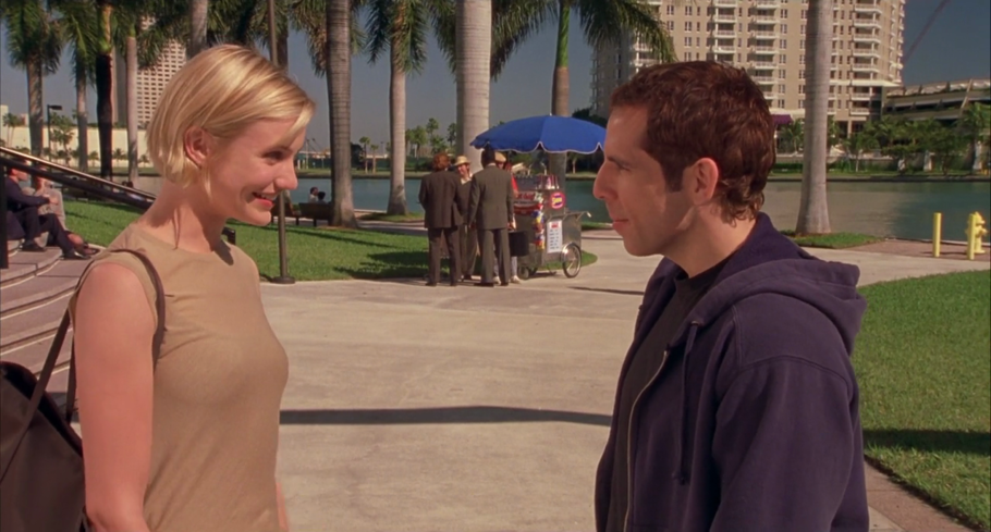 Cameron Diaz and Ben Stiller star in There's Something About Mary