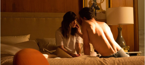 A scene from 50 Shades of Grey, one of GAYOT's Top 10 Sexy Movies (Photo by Chuck Zlotnick © Universal Pictures)
