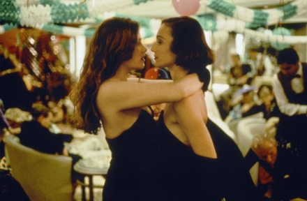 Kristin Scott Thomas and Emmanuelle Seigner in Bitter Moon (Photo by © 1992 New Line Cinema)