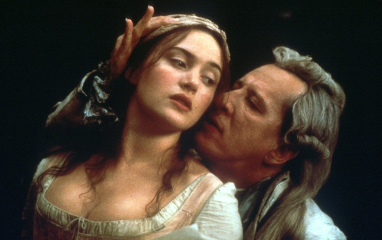 Kate Winslet and Geoffrey Rush in Quills