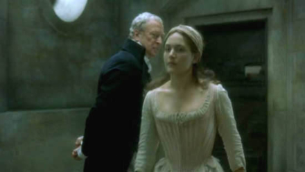 Kate Winslet and Michael Caine in Quills (Photo by © 2000 - Fox Searchlight Pictures)