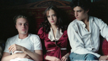Louis Garrel, Michael Pitt, and Eva Green in The Dreamers (Photo by © 2004 Fox Searchlight Pictures)