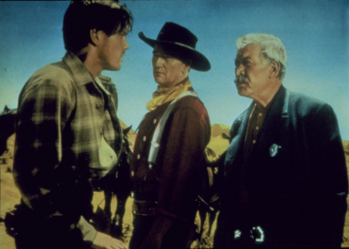 John Wayne plays a gruff Civil War veteran in The Searchers