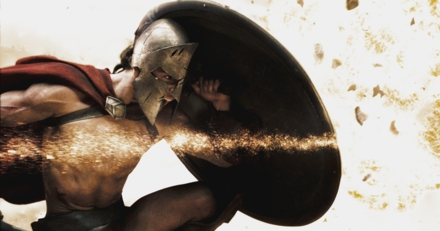 Michael Fassbender in 300 (Photo © 2007 Warner Bros. Entertainment Inc.)