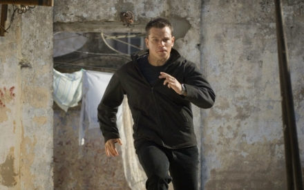 Matt Damon running in The Bourne Ultimatum (Photo by © Universal Pictures)