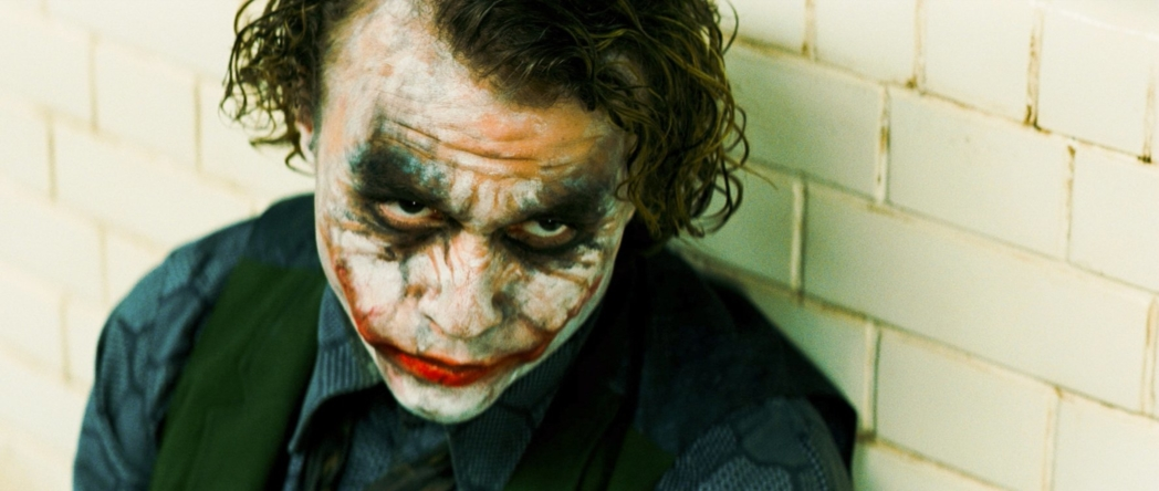 Heath Ledger in his stunning performance as The Joker (Photo © TM &DC Comics.2008 Warner Bros.)